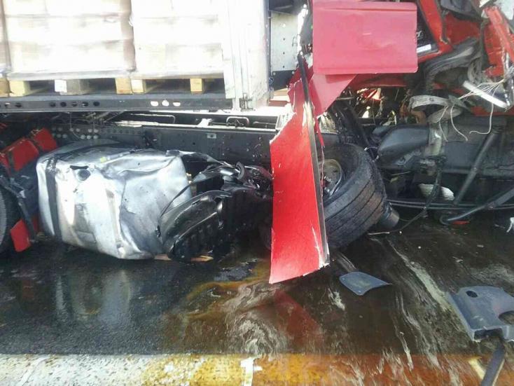 Két kamion karambolozott Pozsony mellett
