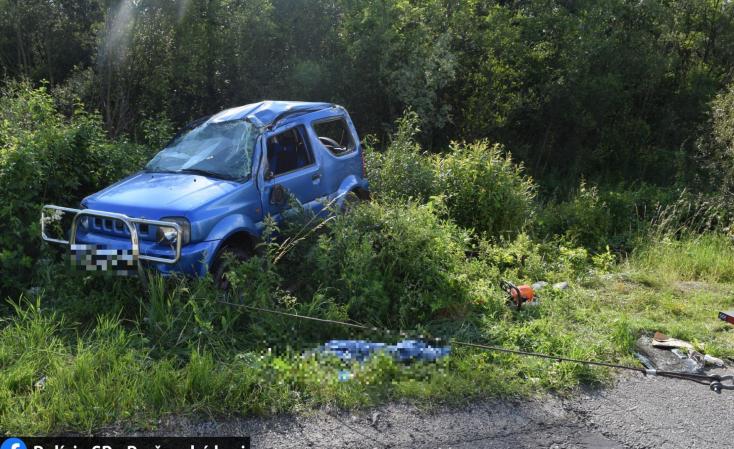 Halálos baleset: megcsúszott és felborult a Suzuki, életét vesztette a sofőr