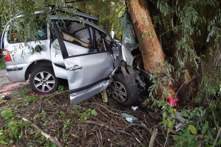 Halálos baleset: telibe talált egy fát a Ford, alig maradt valami a kocsiból (FOTÓK)