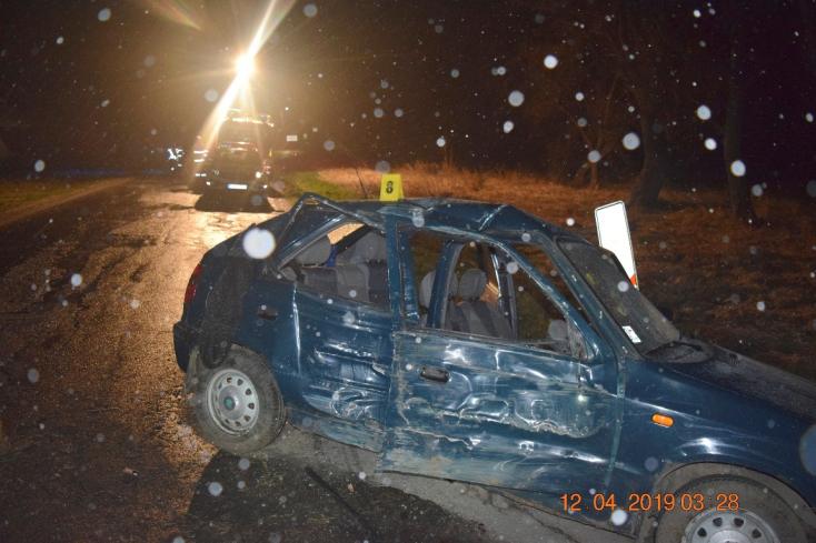 HALÁLOS BALESET: Két ezreléket fújt a sofőr, életét vesztette a 21 éves utasa