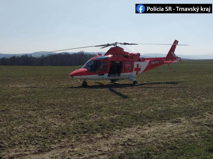 Súlyos motorbaleset: árokba hajtott egy házaspár, a férfit mentőhelikopter vitte el
