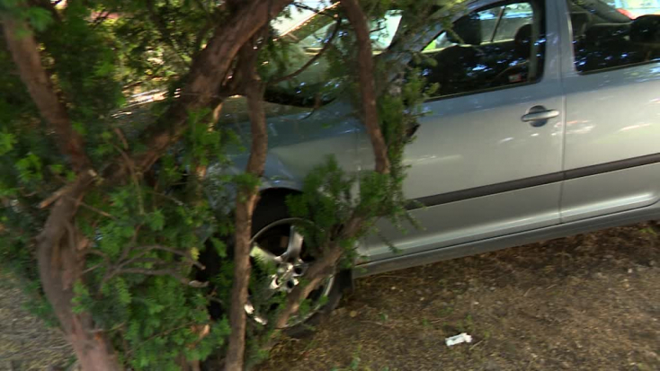 Autós üldözés: fának csapódott a rendőrök elől menekülő autós