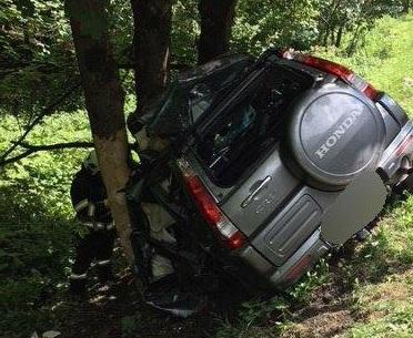 Árokba zuhant és fának csapódott a terepjáró az ütközés után, a sofőrje nem élte túl