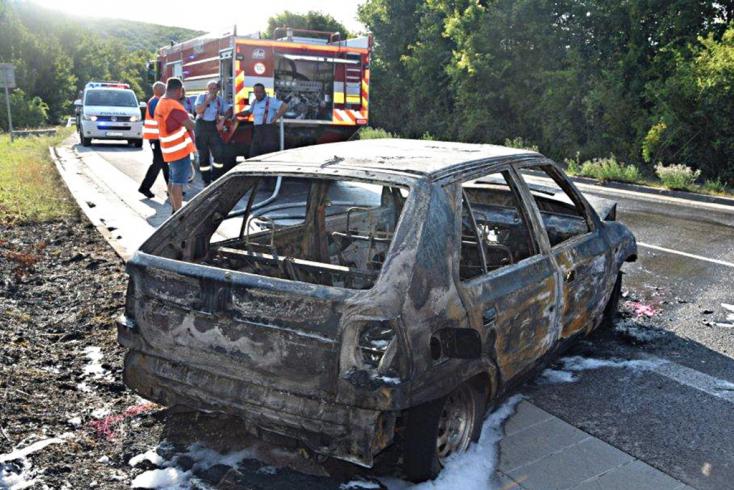 Pánikba esett egy nő az autóba berepülő méh miatt, porig égett a kocsija