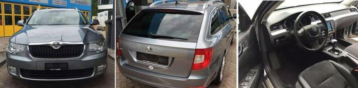 Ellopták a képen látható Škoda Superbet