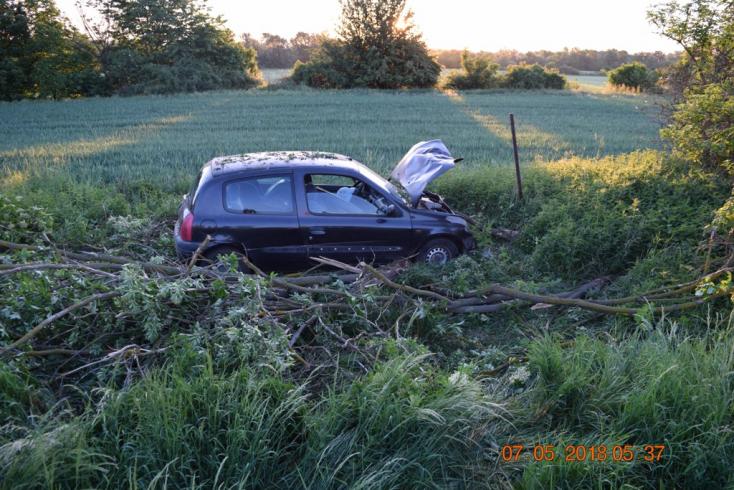 BALESET: Hullarészegen csapódott fának a 31 éves sofőr (FOTÓK)