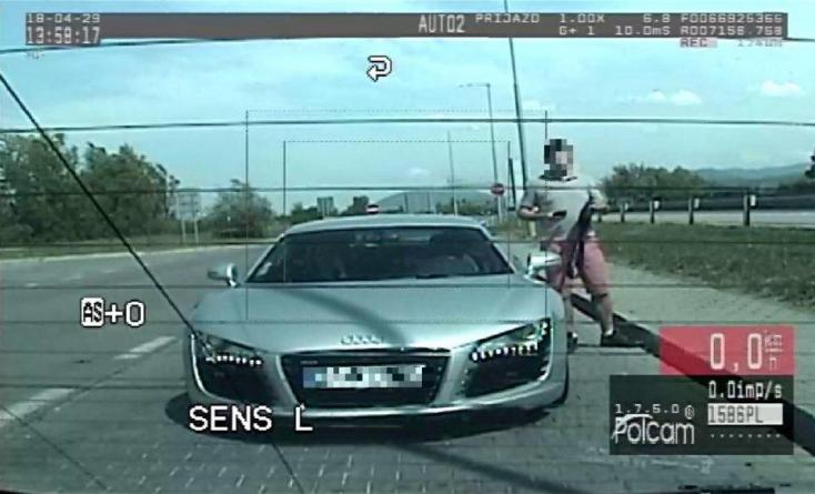 220-szal repesztett az Audival, elképesztő mesével állt elő a rendőröknek