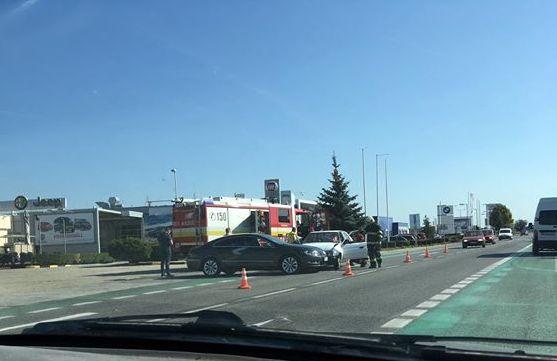BALESET: Két személykocsi ütközött Dunaszerdahelyen