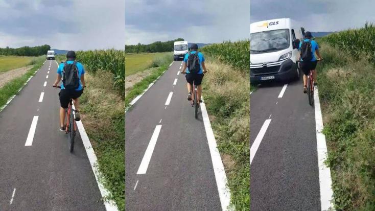 Kerékpárúton veretett a furgon – a rendőrség szemtanúkat keres