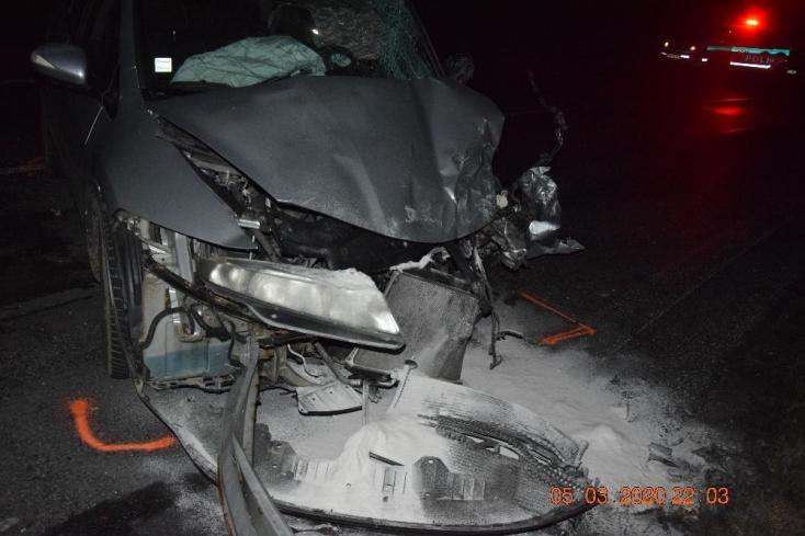 Súlyos baleset: tilosban előzött a részeg sofőr, frontális ütközés lett a vége
