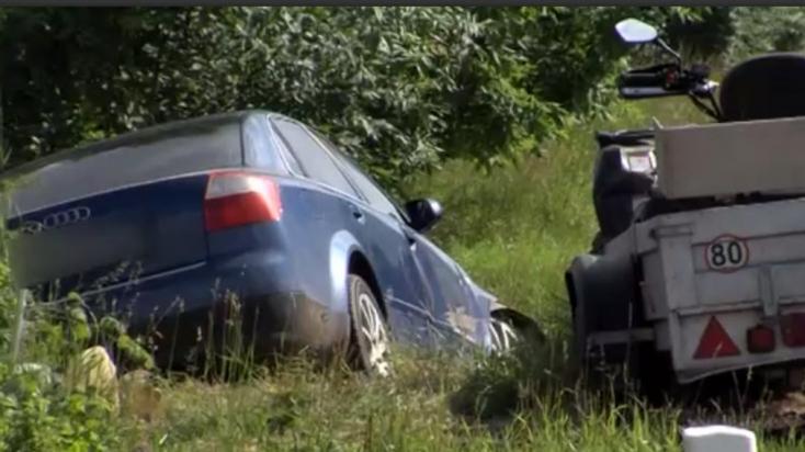 Személyautó és négykerekű ütközött, egy férfi súlyosan megsérült