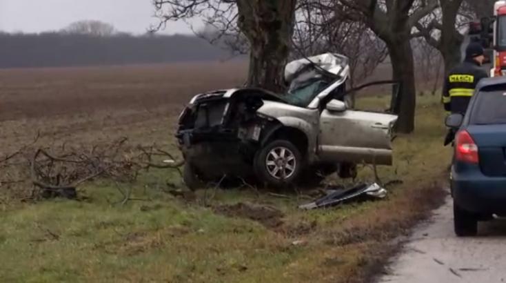 HALÁLOS BALESET: Az autó szó szerint felcsavarodott a fára