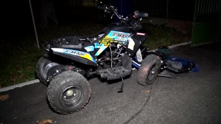 BORZALOM: Leszakadt a kamasz lába, miután egy quaddal kihajtott egy BMW elé