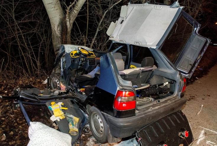 TRAGÉDIA: Dunaszerdahelyi rendszámú autó csapódott fának Vámosszabadinál (videó)