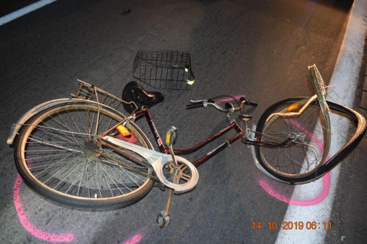 Elaludt vezetés közben és elgázolt egy kerékpárost a bedrogozott fickó