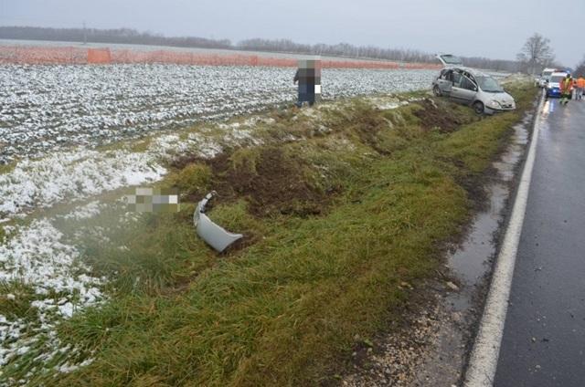 Segítséget nem nyújtott, a zsaruk elkapták a Győrnél balesetet okozó sofőrt