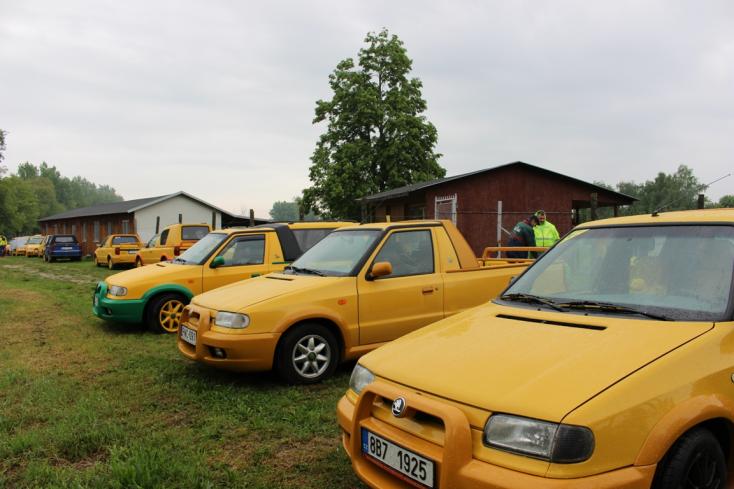 Igazi sárga autóritkaságok szelték a csallóközi utakat (VIDEÓ)