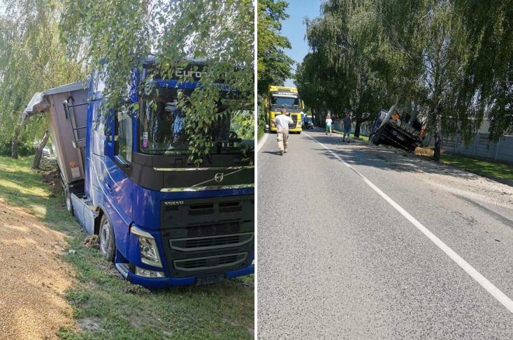 Két tehergépkocsi ütközött Nádszegnél