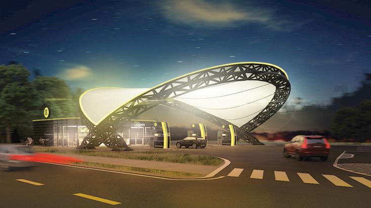 Megnyílt a jövő benzinkútja Pozsonyban!