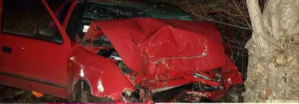 SÚLYOS BALESET: Fának csapódott egy autó Albárnál!